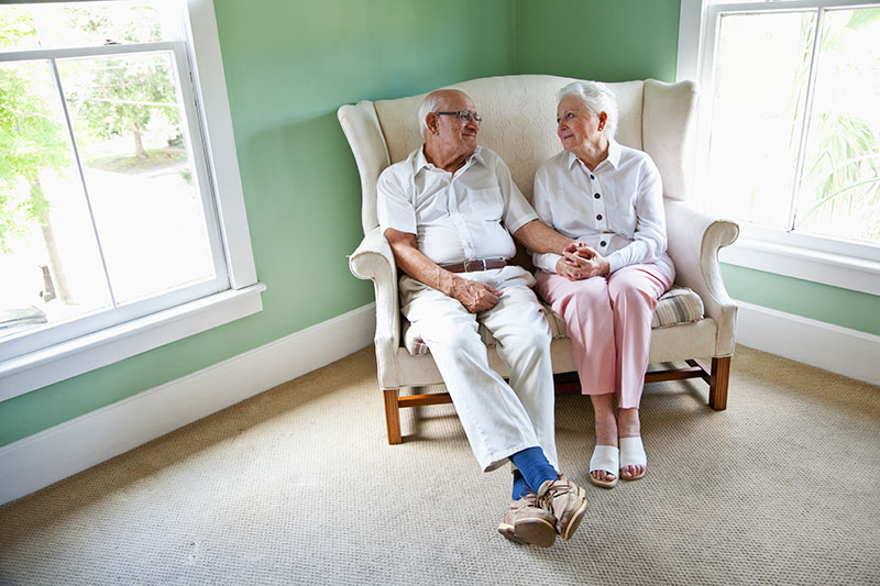 Seniors in home image